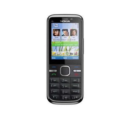 Original Nokia C5-00i 5MP Bar GPS Camera Bluetooth  Unlocked MP3 Mobile Phone