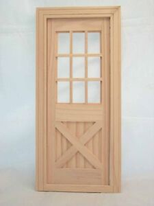 Image is loading Fashion-Dollhouse-Playscale-Door-miniature-96012-wooden-1- & Fashion Dollhouse Playscale Door miniature #96012 wooden 1/8 - 2 ...