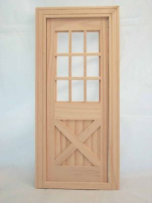 "Fashion Dollhouse Playscale Door  miniature #96012 wooden 1/8 - 2"" scale"