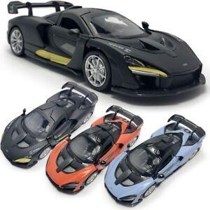 McLaren-Senna-V8-coche-modelo-automovilismo-1-32-Diecast-Regalo-Juguete-Vehiculo-Ninos-Tire-hacia