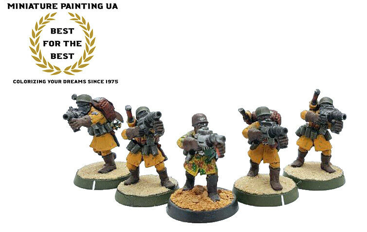 ⭐️WH40K Steel Legion Five Grenadiers Painted Conversion Kill Team with Commander