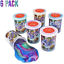 Kicko Marbled Galaxy Color Slime Pack of 6 Colorful Galaxy Sludgy Gooey Fidge
