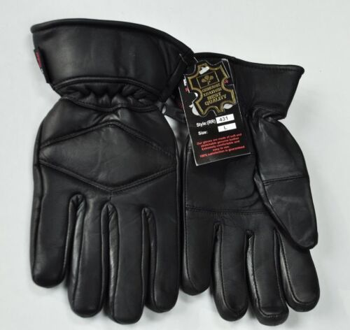 Motorcycle Gloves Men/'s Genuine Leather Warm Lined Driving Gloves