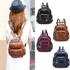 6148a281a7 Cute Women s Small Mini Faux Leather Cute Backpack Rucksack Travel ...