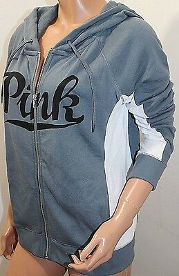 Pink by Victoria's Secret Perfect Jacket Hoodie Full Zip Large NWT Gray | eBay