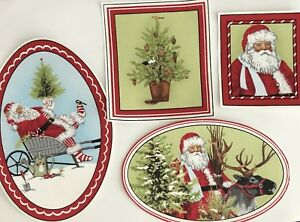 Large-Santa-Claus-Christmas-Portraits-Iron-On-Fabric-Appliques-Craft-Patches