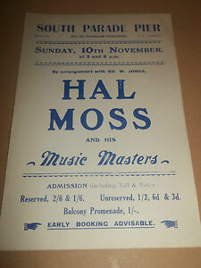 south parade pier portsmouth hal moss original handbill