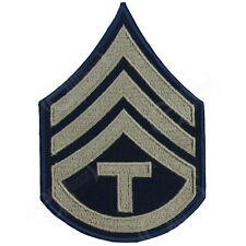 US Army TECHNICIAN 3 3rd GRADE Khaki ARM RANK INSIGNIA American NCO - WW2 Repro