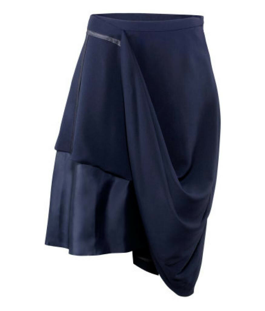 MAISON MARTIN MARGIELA H&M US6,8,10 EUR36,38,40 Blau Hitched Up Crepe Skirt MMM