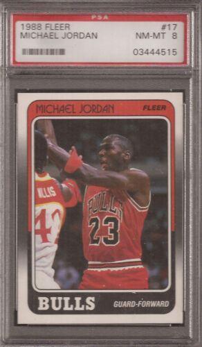 Michael Jordan Bulls HOF 1988-89 Fleer Basketball #17 PSA 8 QUANTITY
