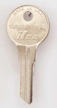 KABA ILCO 104AM-AP4 Key Blank,Brass,Type AP4,6 Pin,PK10