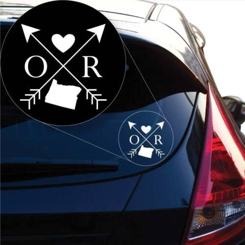 Laptop # 1102 Oregon Love Cross Arrow State OR Decal Sticker for Car Window