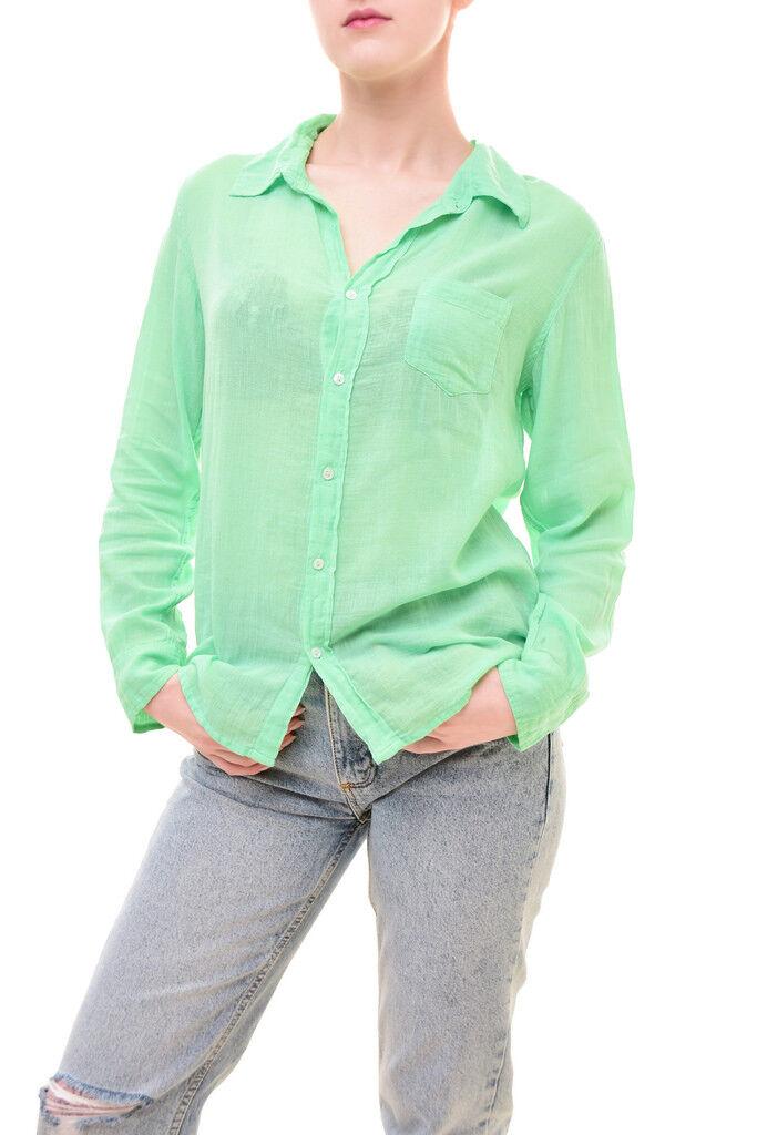 Sundry Woherren Basic Shirt Long Sleeved Kiwi Größe US1
