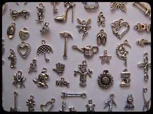 BULK-PACK-OF-20-MIXED-TIBETAN-SILVER-CHARMS-NEW-SEALED