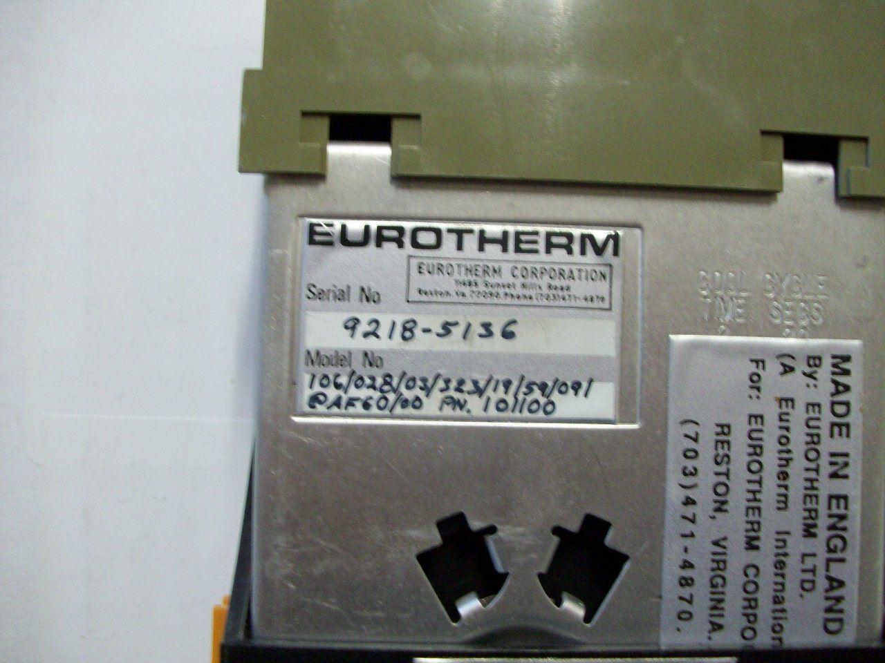 Euredherm 106 Process Alarm Alarm Alarm Controller Lot
