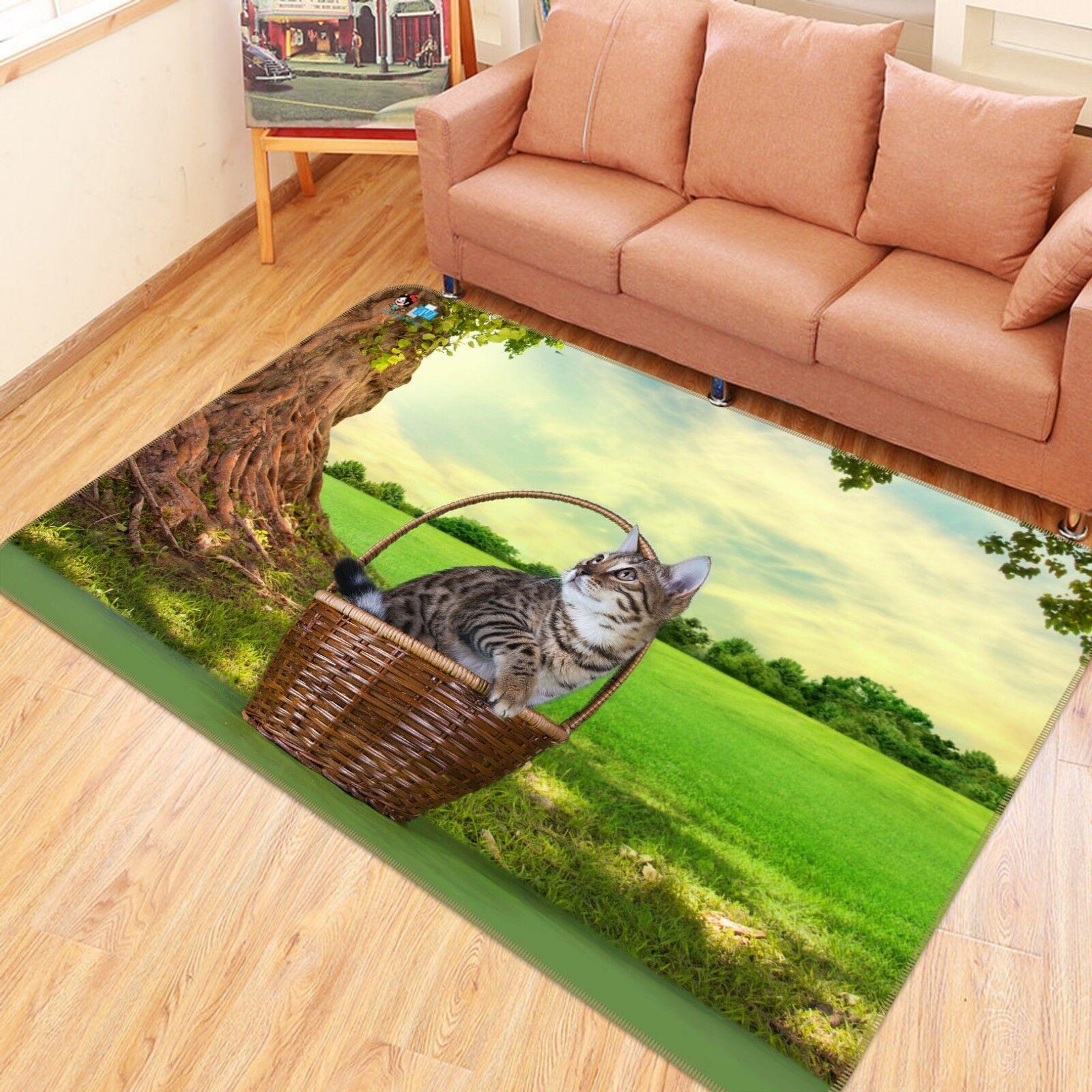 3D cat prato 110 tappetino antiscivolo tappeto camera Tappetino Qualità Elegante foto Tappeto UK Estate