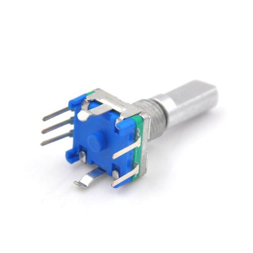3Pcs//set 6mm D Shaft 18 Position 360 Degree Rotary Encoder w Push Button/_s4