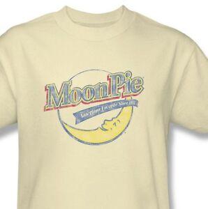 Moon-Pie-T-shirt-80-039-s-retro-candy-vintage-distressed-cotton-tan-tee-MPI100