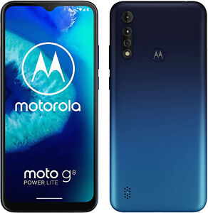 New-Motorola-Moto-G8-Power-Lite-Blue-64GB-5000mAh-Android-9-0-Unlocked-Sim-Free