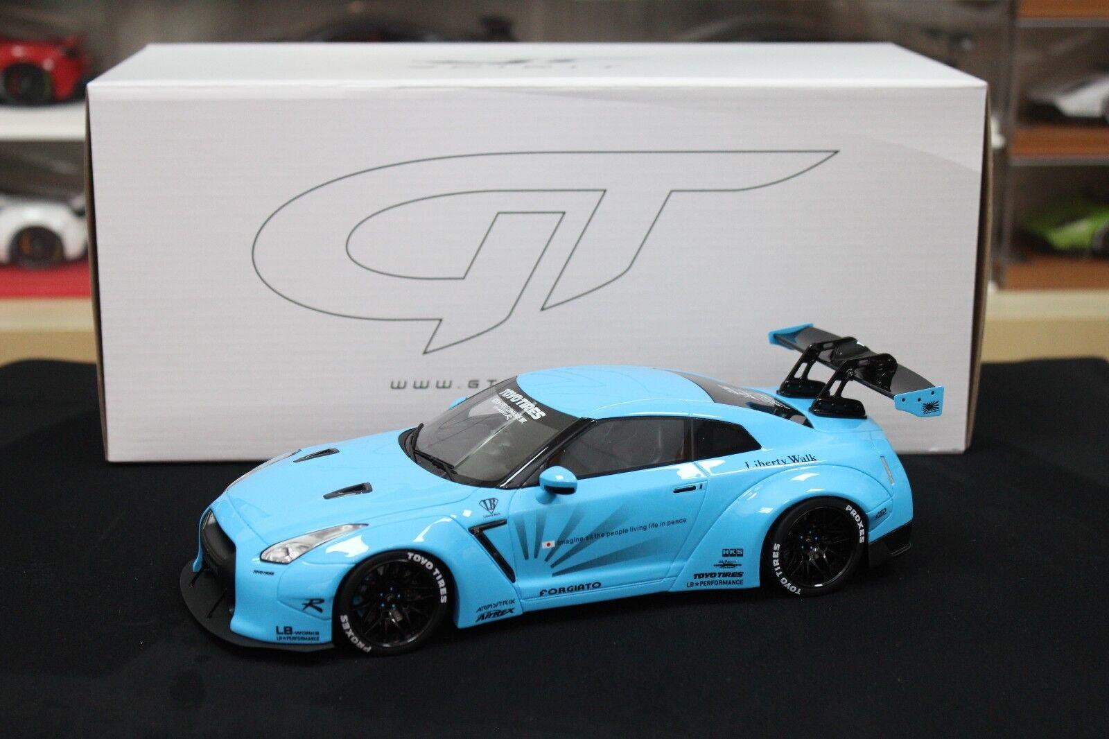 1:18 GT Spirit ZM116 Nissan R35 GTR LB Leistung (Freiheit Walk) . Baby blau