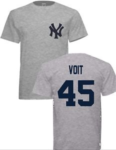 Youth Awesome Luke Voit Yankees 45 Gray T- SHIRTS free shipping ... e058adb1884