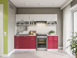 k che lux 240 cm hochglanz k chenzeile k chenblock einbauk che komplett k chen ebay. Black Bedroom Furniture Sets. Home Design Ideas