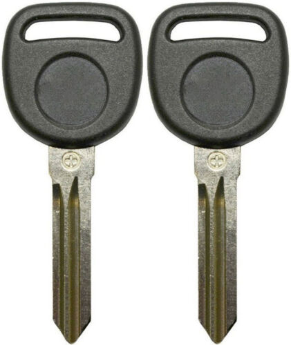 2 NEW UNCUT CHEVROLET TRANSPONDER CHIPPED IGNITION//DOORS KEY BLANK B111-PT