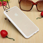 Mat Transparent PC Housse Coque Etui TPU Bumper Frame Case Cover Pour iPhone 6