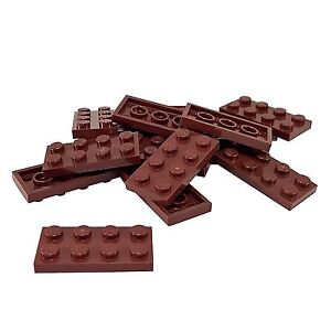 4264669 Brick 3028 LEGO NEW 6x12 Reddish Brown Plate 2x