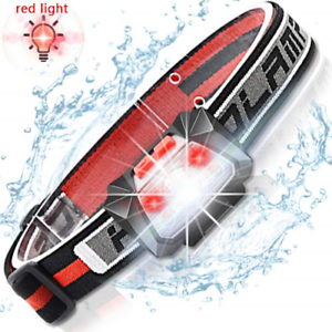 LED Head Torch Rechargeable USB Ultralight Induction for Kids Adults Running by