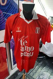 Maillot-jersey-trikot-shirt-camiseta-trikot-vintage-L-peru-perou-te-amo-2004-L