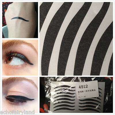 8 Pairs Wild Cat Eyes Design Temporary Eyeliner Sticker/Tattoo For Makeups