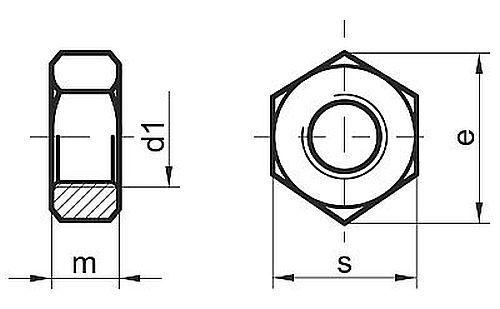 Hex Nuts M2 M3 M4 M5 M6 M8 M10 M12 M14 M16 Stainless Steel A2-10 pack