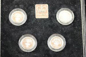 1984-1987-Great-Britain-Royal-Mint-Silver-Piedfort-Collection
