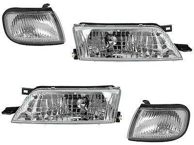 For Nissan Maxima 97 98 99 Head Light Corner Lamp With Bulb Pair 4 Piece Set