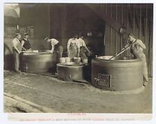 SWITZERLAND The Manufacture of Gruyere Cheese - Antique Photograph c1900