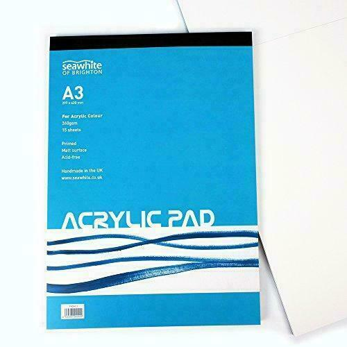 Seawhite Artist Acrylic Paint Pad A3 360gsm 15 Sheets For Sale Online Ebay