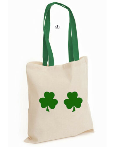 LEAF,CONBAG Shamrock Cotton Tote FUNNY HAPPY Leprechaun St Patrick/'s DAY Irish