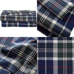 Stone Beam Rustic 100 Cotton Plaid Flannel Bed Sheet Set Easy Care Twin Xl Ebay