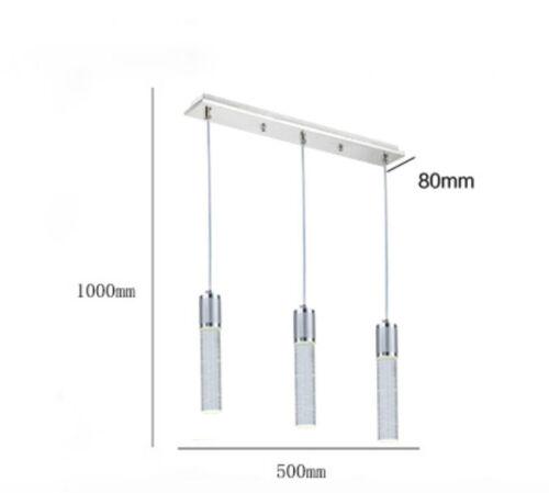 Modern Crystal LED Pendant Lamp Ceiling Light Lighting Chandelier Dining Lamp