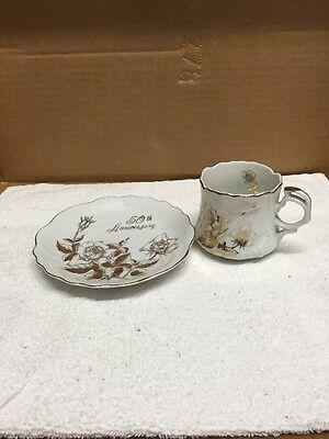 Vintage  Lusterware Royal Crown Original ARNART Creations Cup and Saucer