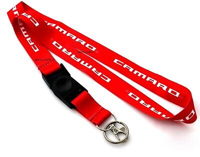 JDM DODGE SRT Racing NYLON DOUBLE SIDE Lanyard Neck Strap KeyChain Quick Release