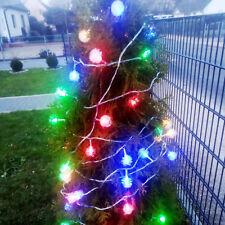 LED Lichterkette LichterVorhang Schneeball Fenster Baum Weihnachtsdeko Flash 10m