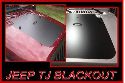 1997-2006 JEEP TJ HOOD BLACKOUT PANEL DECALS VINYL STRIPES FACTORY STRIPE
