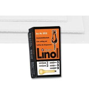 Linolschnittbesteck Konturenmesser Holzgriff