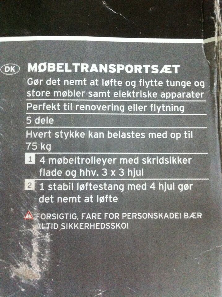MØBEL TRANSPORT SÆT, POWERFIX PROFI