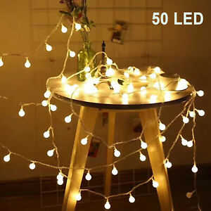 50-LED-Ball-String-Fairy-Lights-Battery-Operated-Christmas-Wedding-Party-Decor