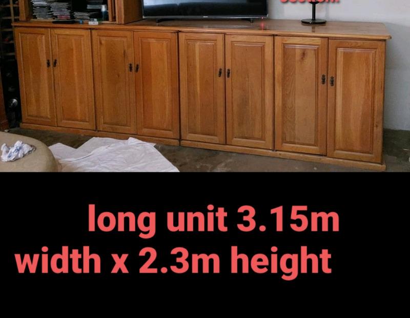 Long cabinet solid oak