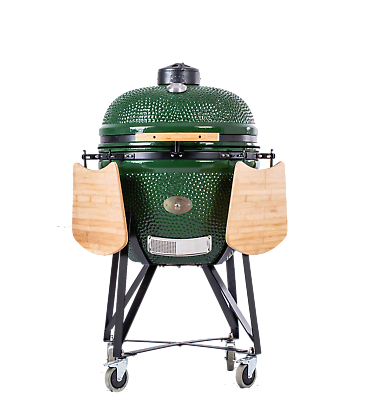 "Ynni 21"" Green Xl Chip Feeder Kamado Oven Bbq Grill Egg Tq0c21gr For Improving Blood Circulation Home & Garden"
