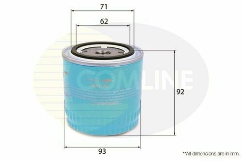 Oil Filter FOR NISSAN PRIMERA P12 2.2 03-/>08 CHOICE1//2 Diesel WP12 139 Comline